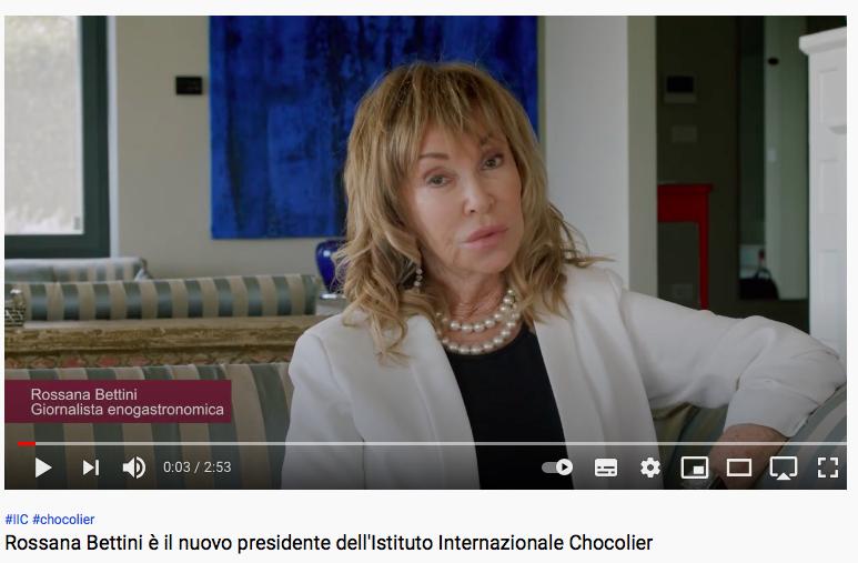 Nuovo Video: Rossana Bettini e l'Istituto Internazionale Chocolier.